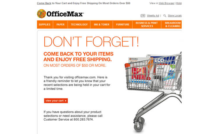 19-officemax-cart-abandonment-followup-email