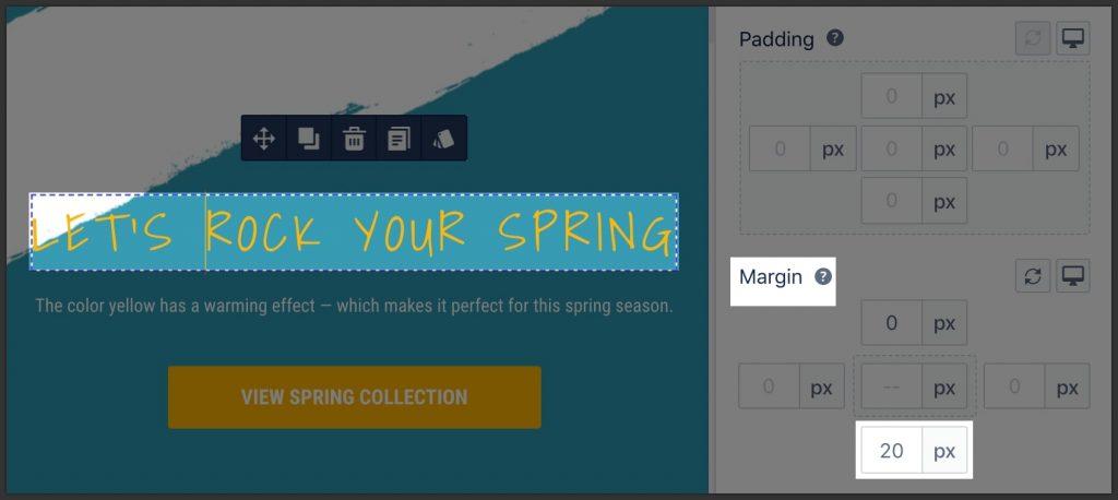 Use margin properly