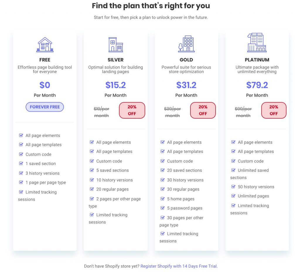 PageFly-pricing