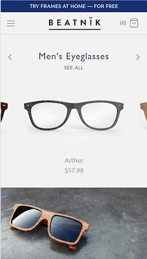 Shopify theme for POD store: Symmetry -mobile