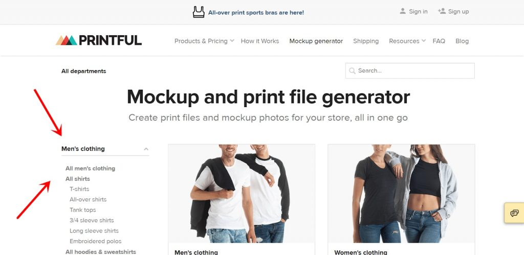 Printful Review: Select A Product
