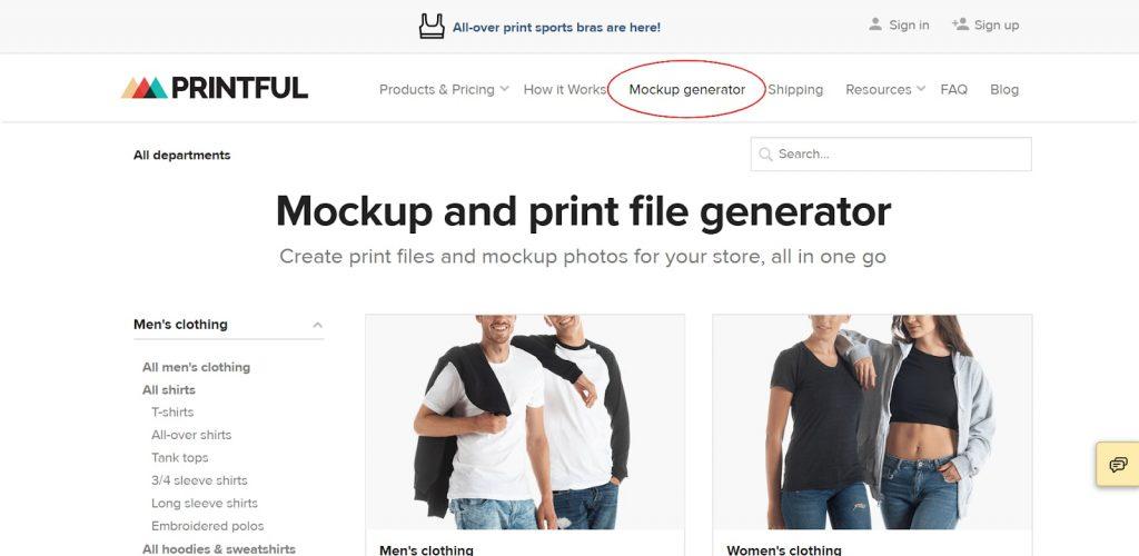 Printful Review: Mockup Generator