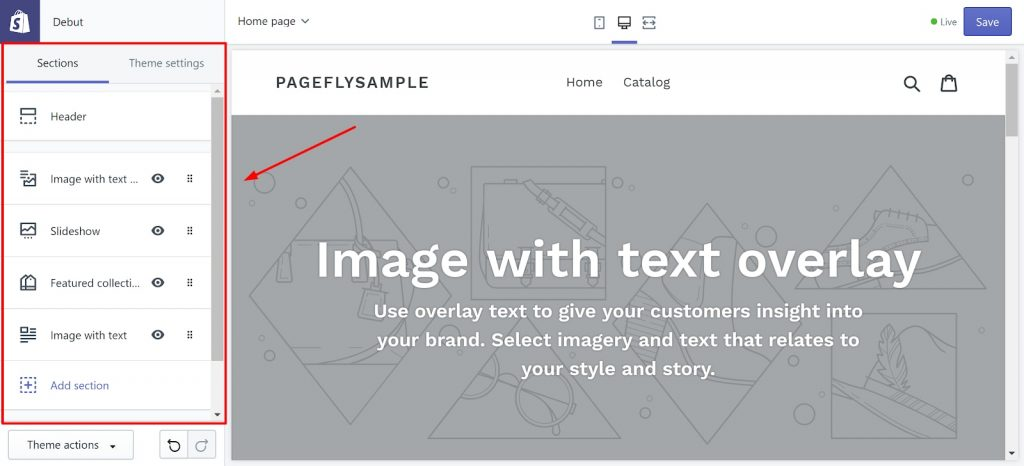Shopify Page Builder has limited customization options