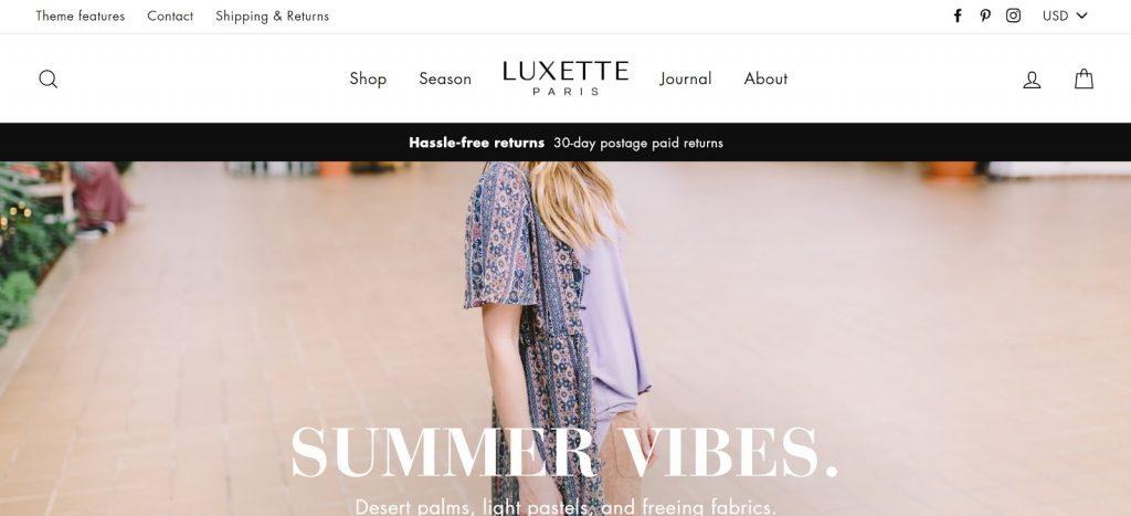 Shopify theme for Print on Demand store - Impulse desktop view