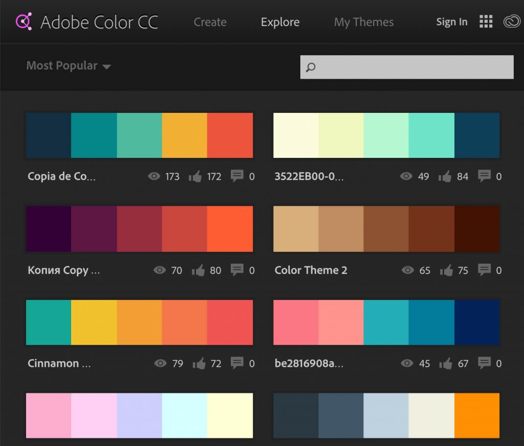 color palette is important in web design