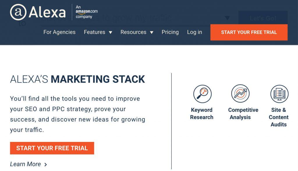 CTA example in web design