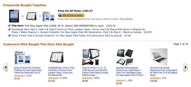 amazon cross-selling example