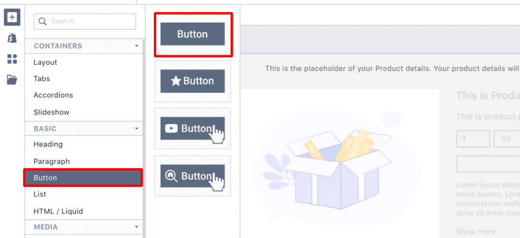 PageFly button