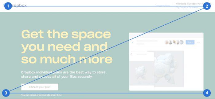web design tips Z layout principle