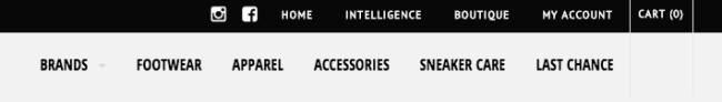 web design navigation bar examples