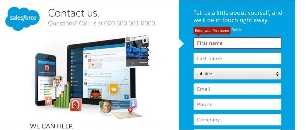 visual cues examples in web design