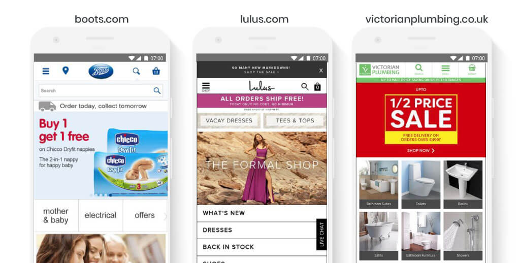 Top Categories in Homepage Design
