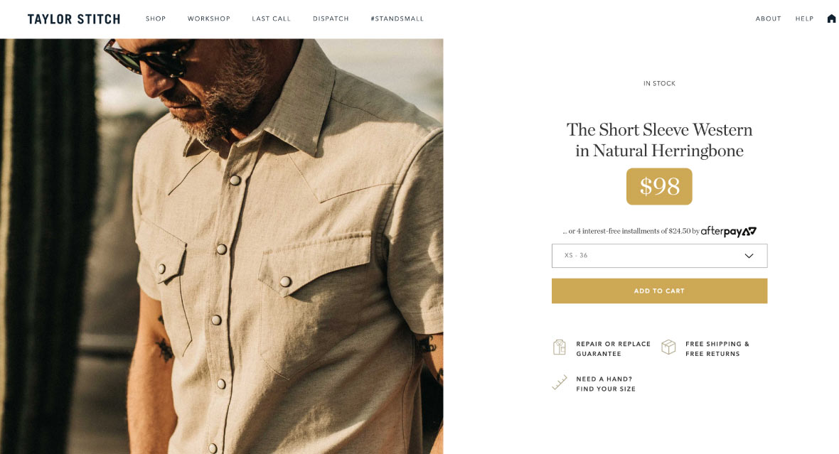 Best Shopify clothing stores - taylor