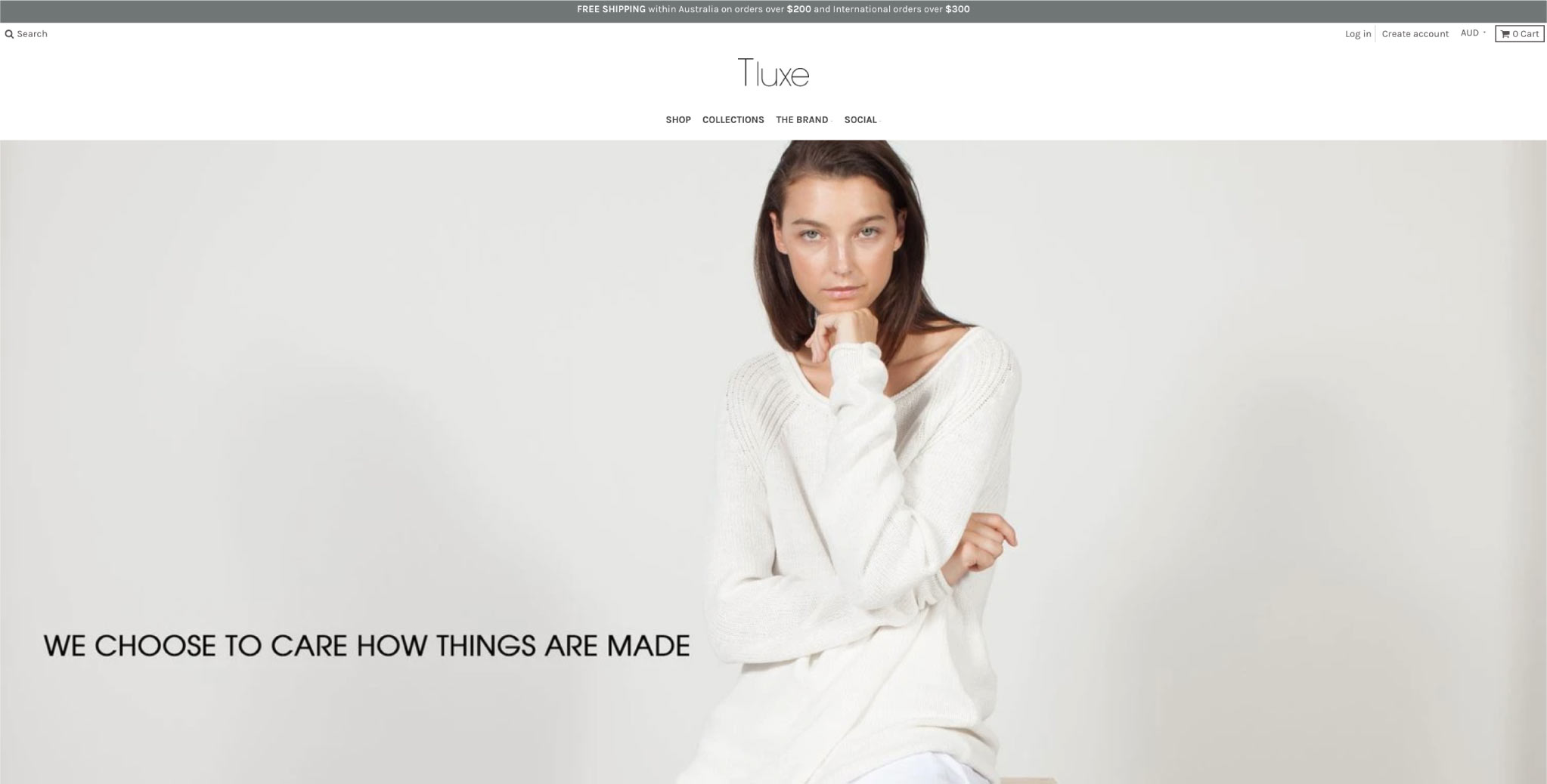Best Shopify Clothing stores - Tluxe