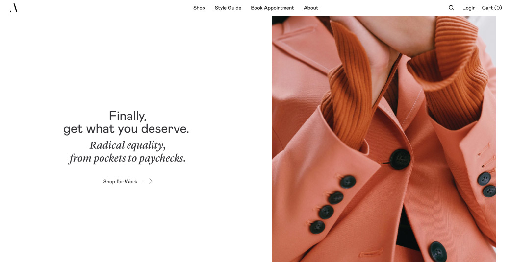 Best Shopify clothing stores - Argent