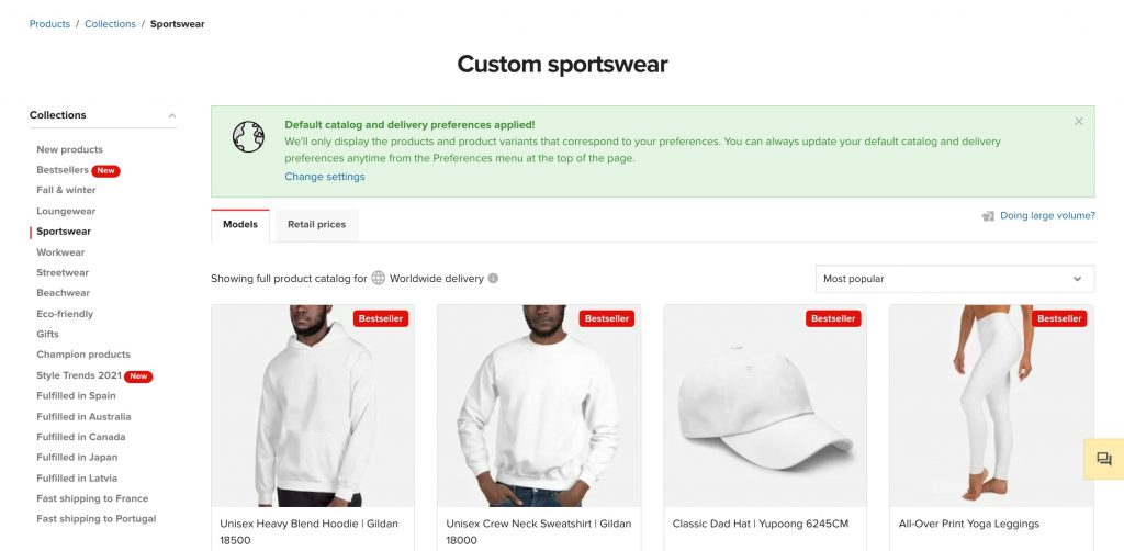 custom sportwear