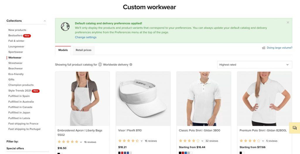 Custom Workwear POD