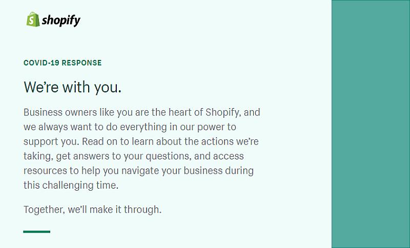 Shopify COVID-19 Response