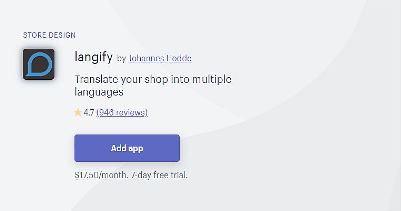 Langify Translation App