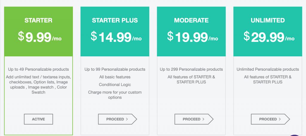 app pricing plan
