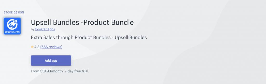 Upsell Bundles on Shopify App Store