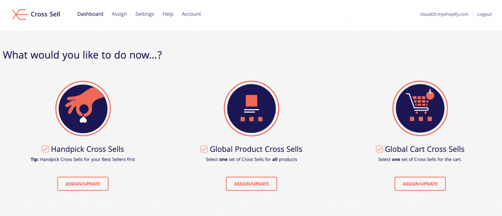 Cross Sell Recommend Product App functionality
