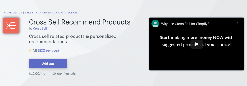 Cross Sell Recommend Products On Shopify App Store