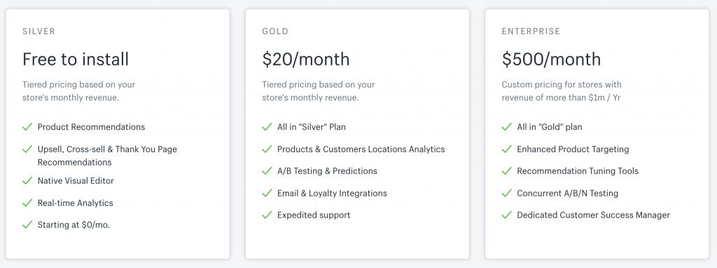 LimeSpot Personalizer pricing plan