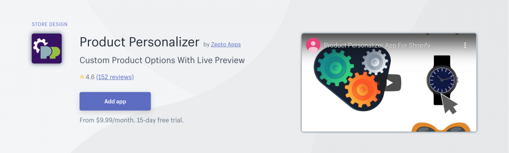 Product Personalizer on Shopify App Store