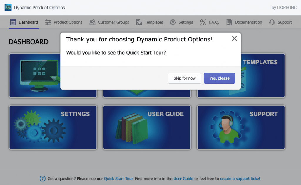 Main feature of Dynamic Product Options