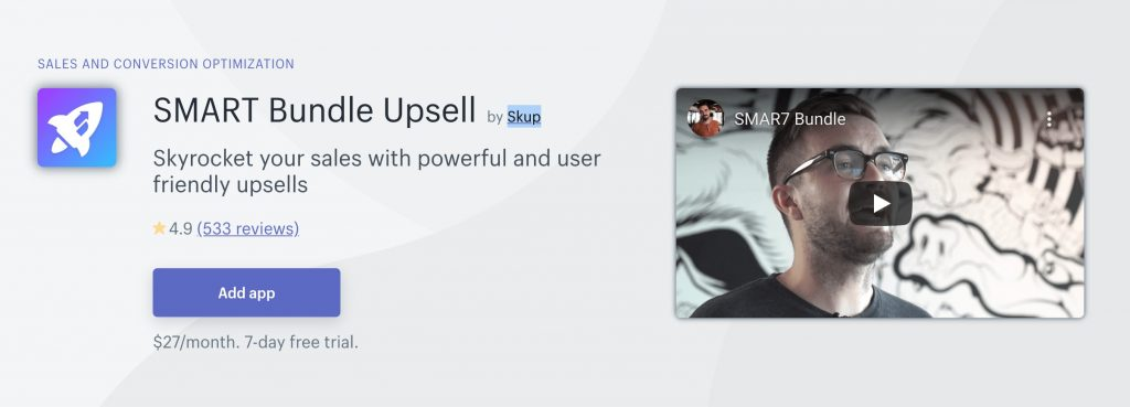 Smart Bundle Upsell app on Shopify