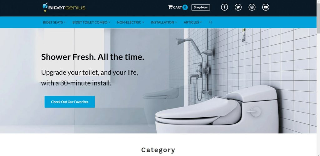 Shopify dropshipping example: Bidet Genius