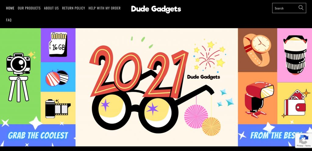 Dude Gadgets dropshipping store