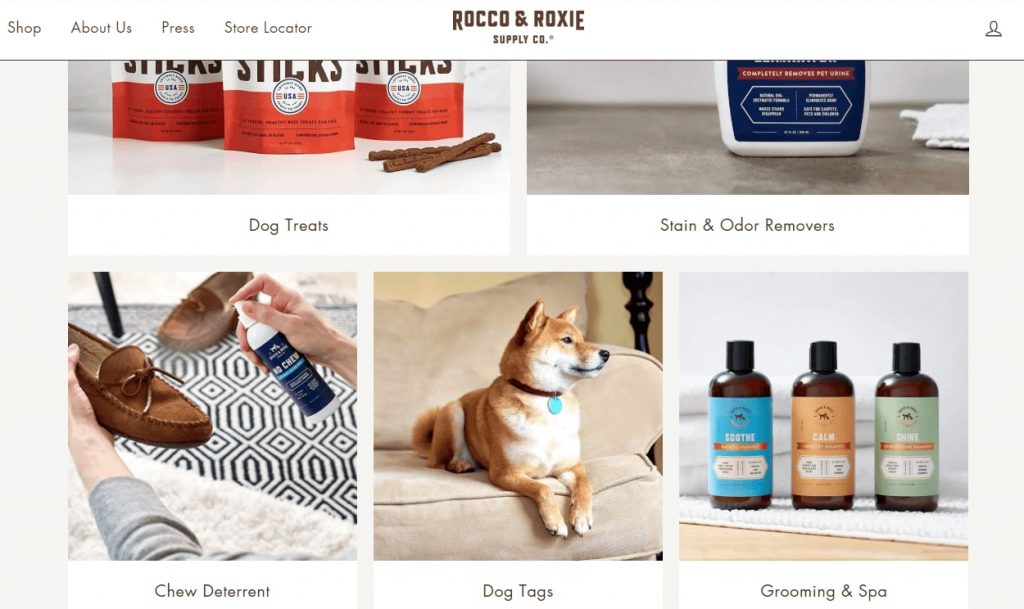 pet supplies product page design