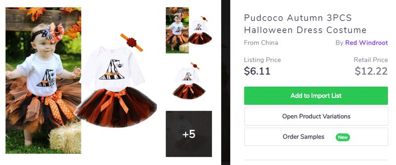 Kid costume for Halloween