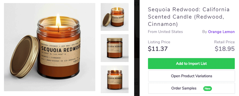 Mother day product ideas to sell online - Scented candles