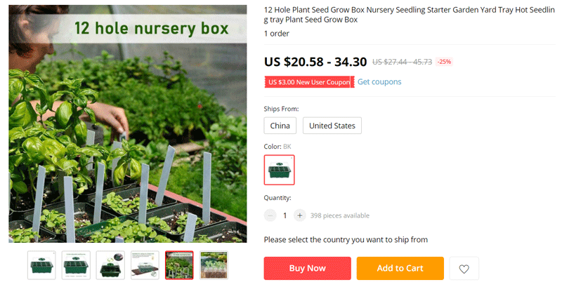 Mother day product ideas to sell online - Plant nursery box