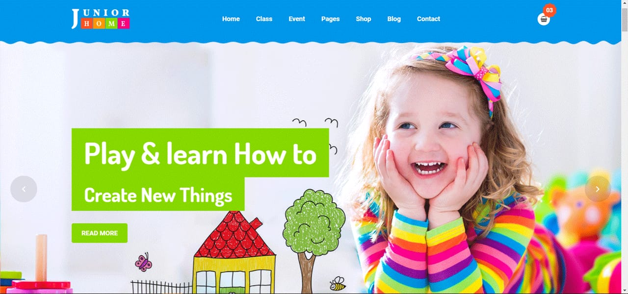 Junior box Back To School Landing page