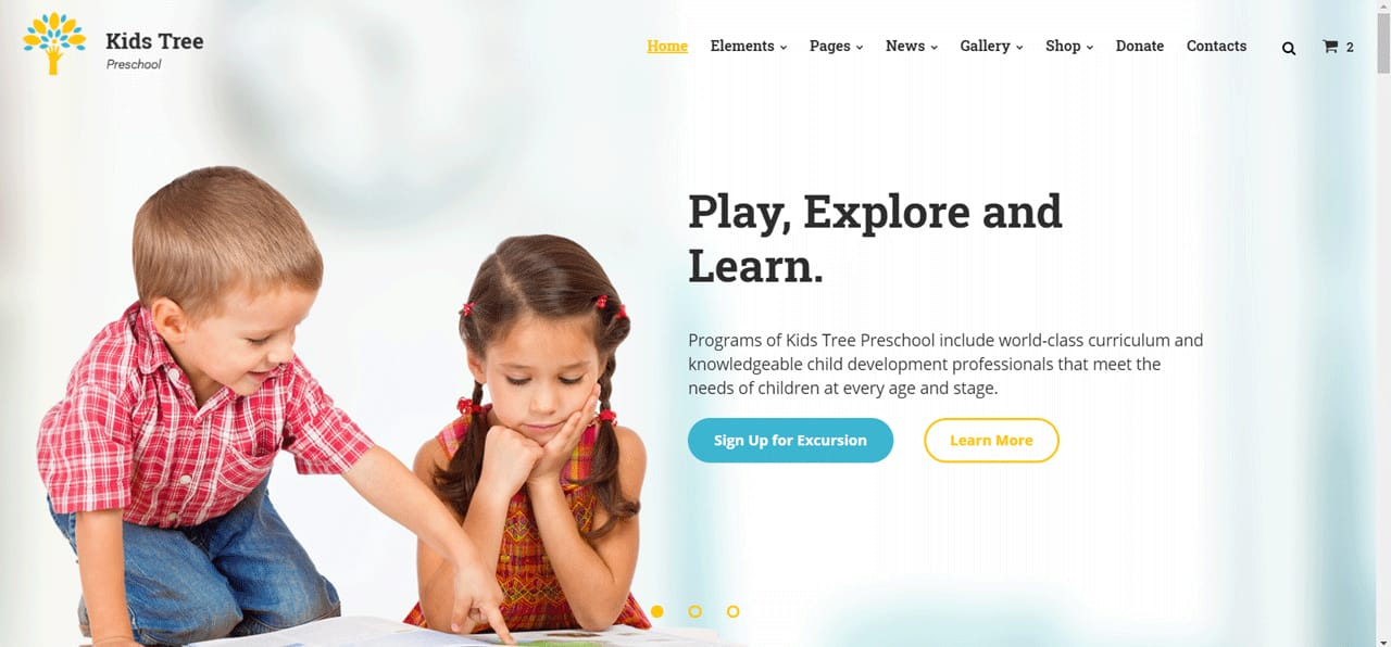 Kids Tree Back to School landing page template