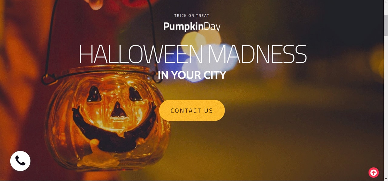 MotoCMS Halloween landing page template 01