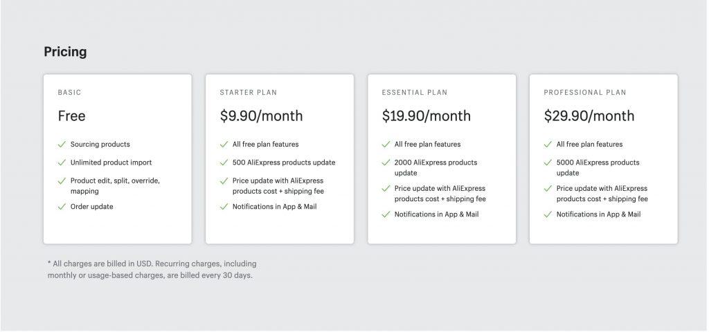 Aliexpress pricing