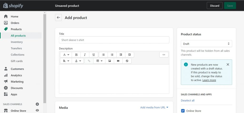 add food product to your online store