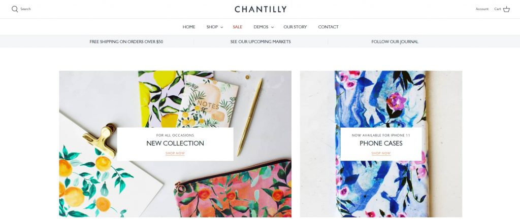 shopify theme for art store