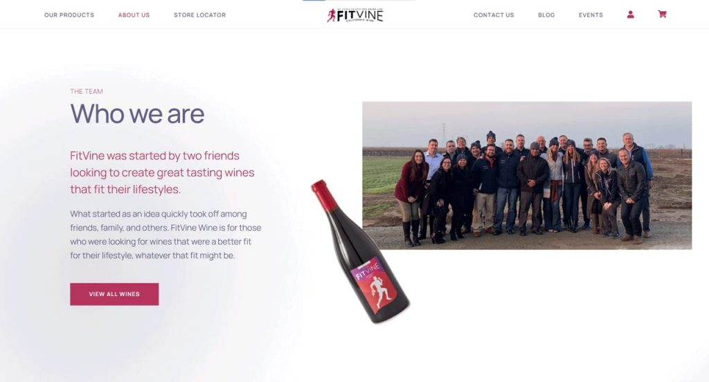 online wine store example