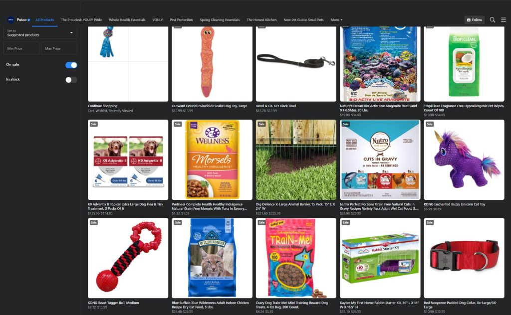 facebook social commerce example