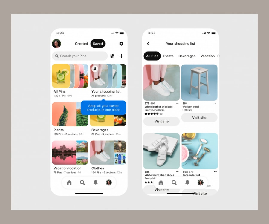 Pinterest Social commerce example